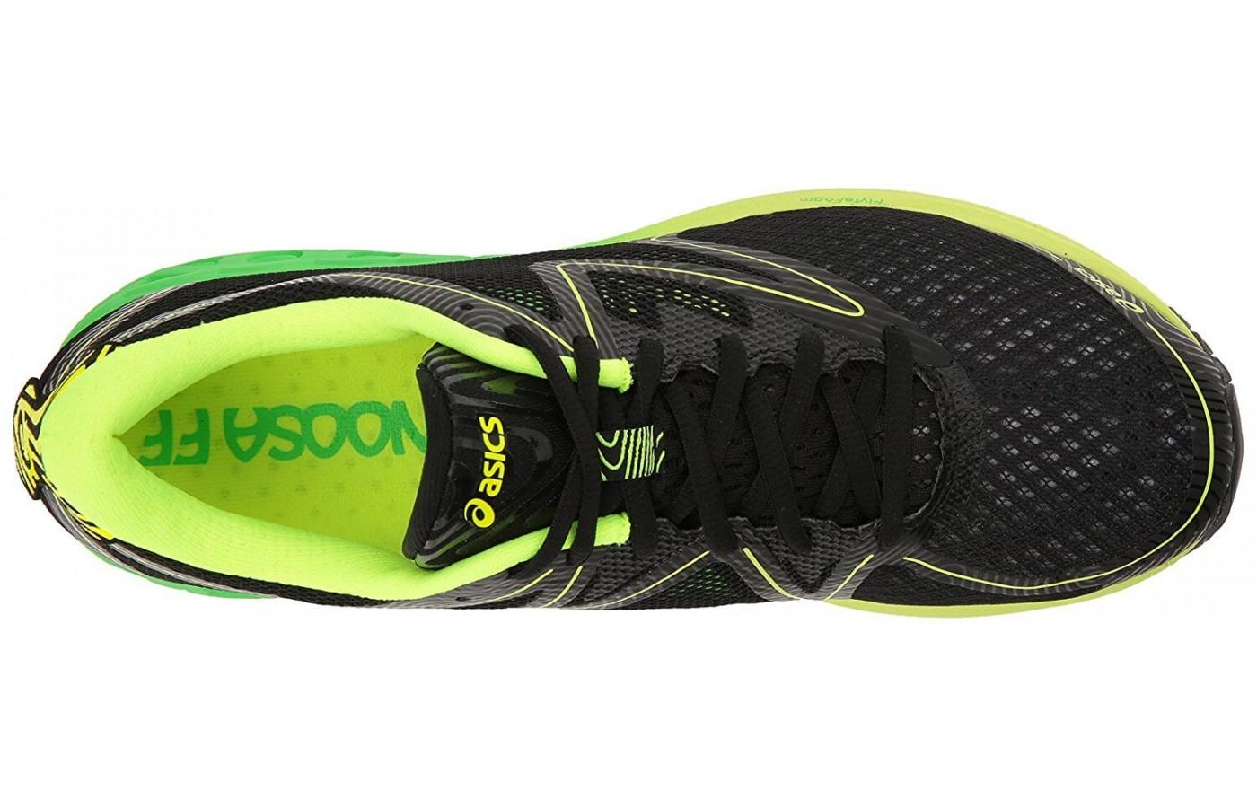 the upper of the Asics Noosa FF has been redesigned to provide more ventilation
