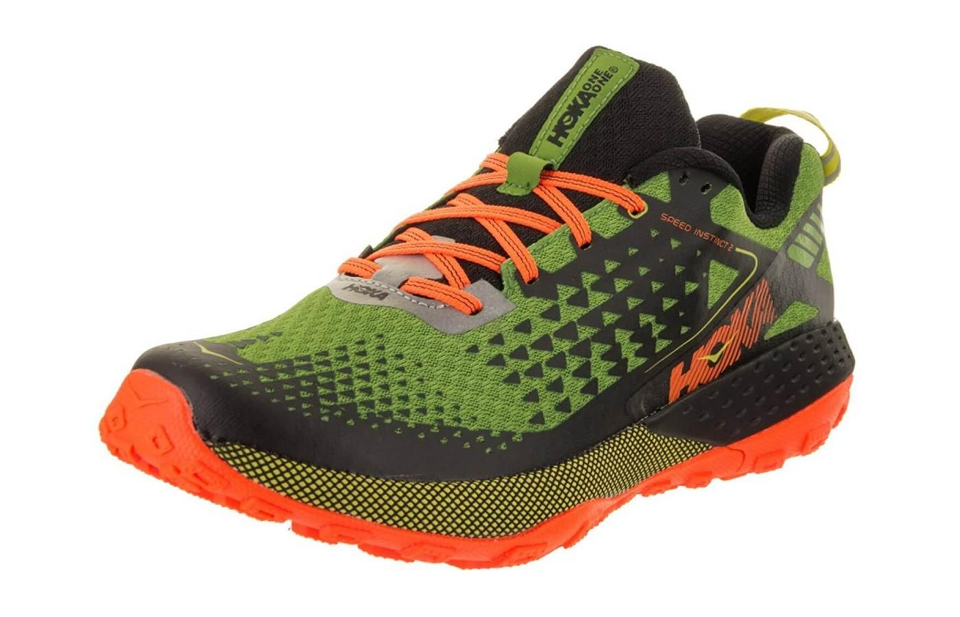 the Hoka One One Speed Instinct 2 is a high-performance trail running shoe