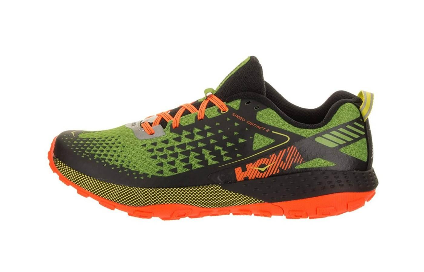 the Hoka One One Speed Instinct 2 is an aesthetically dynamic trail runner