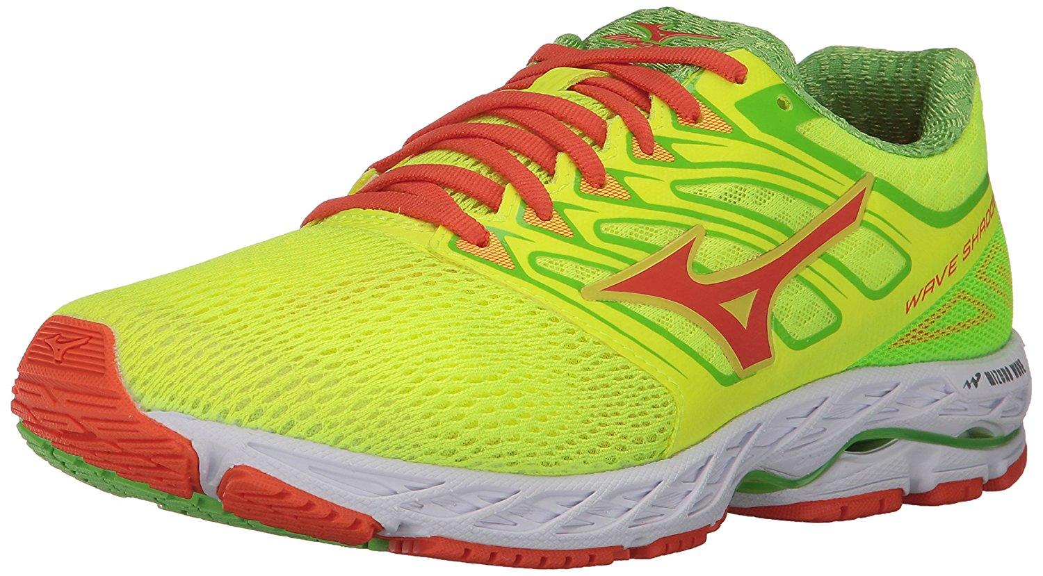 Mizuno Wave Shadow in neon yellow