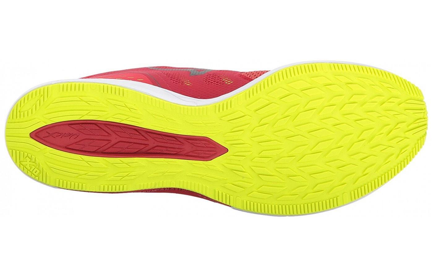 Mizuno Wave Sonic features blown rubber in its outsole