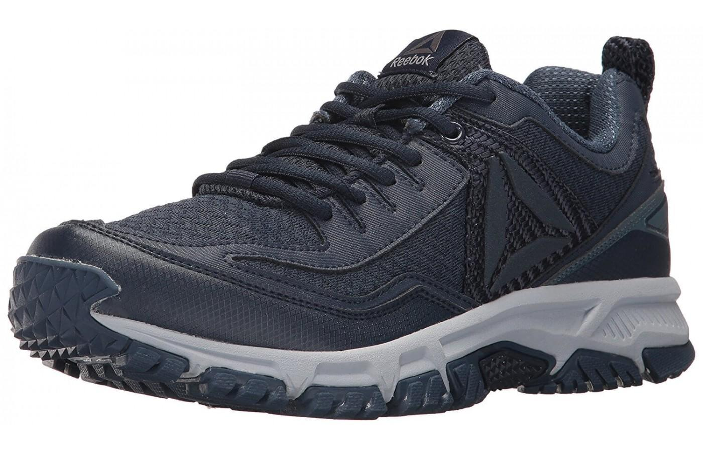 dcea9083e69 Reebok Ridgerider Trail 2.0 is a trail shoe with prominent outsole lugs ...