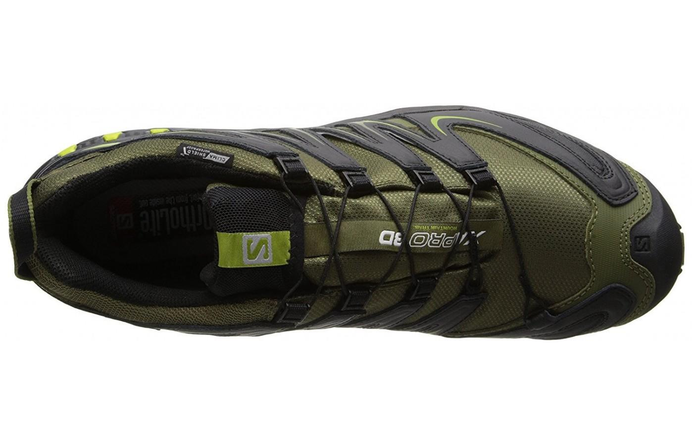 the upper of the Salomon XA Pro 3D CS WP has ClimaShield lining that's waterproof and keeps the foot warm
