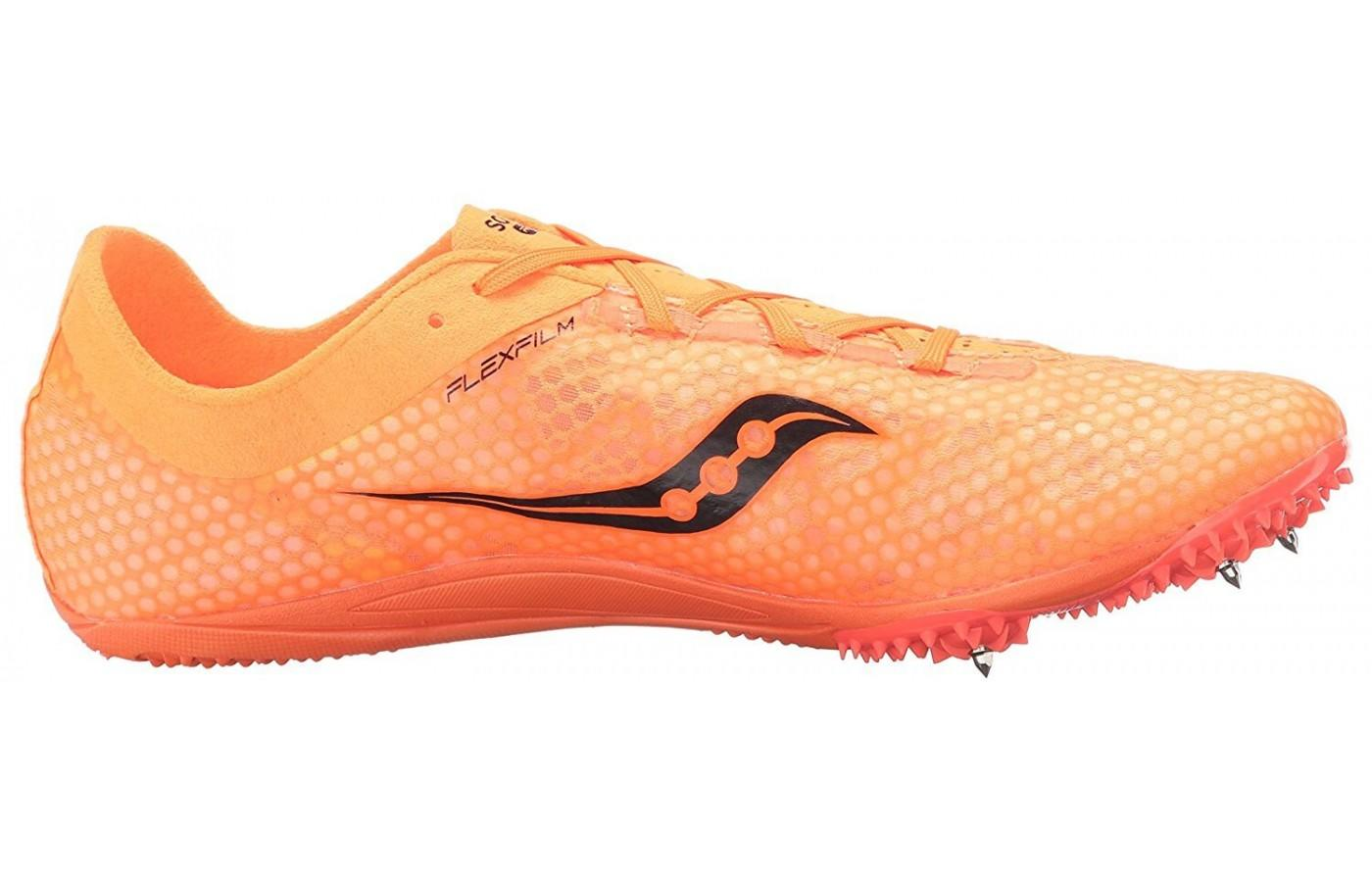 the Saucony Endorphin is the lightest track spike on the market
