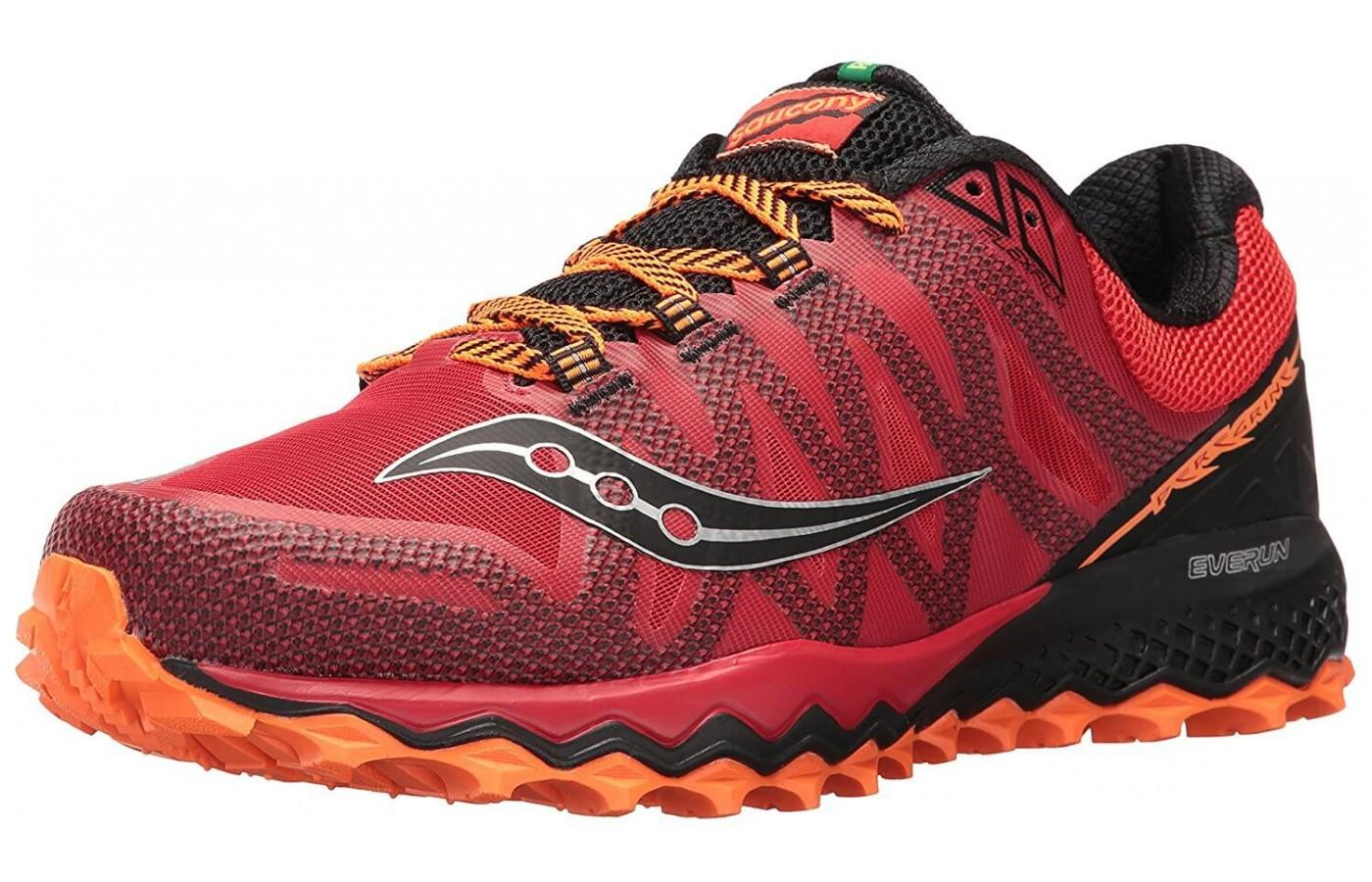 96858b1c9960 Saucony Peregrine 7 in men s orange and red colorway ...