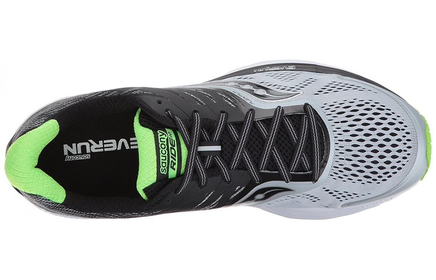 here is a look at the breathable mesh upper
