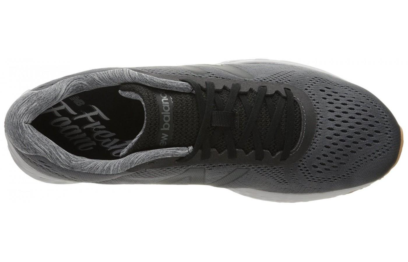 The upper features a breathable mesh.