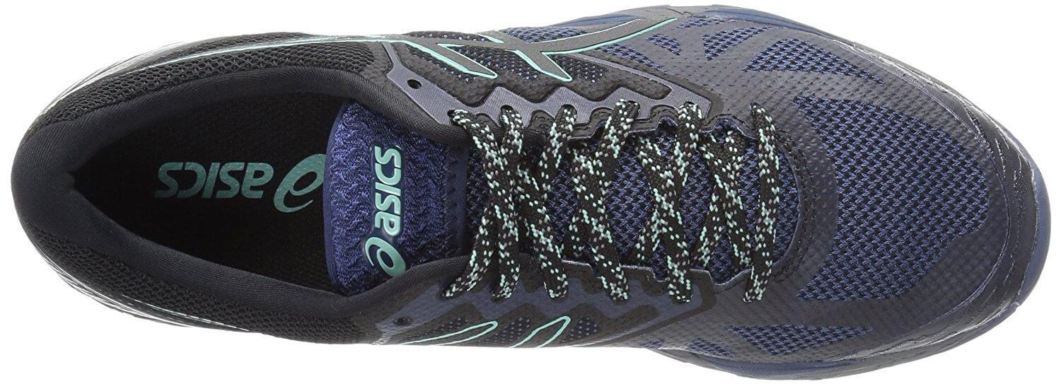 These Asics trail shoes protect the laces with a special 'lace garage.'