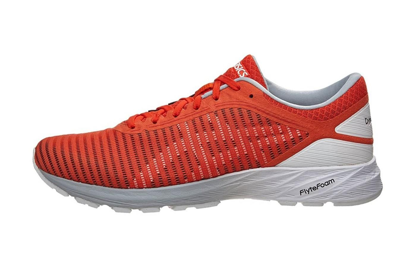 2bfac577697b Asics DynaFlyte 2. The midsole features a lightweight cushioning.