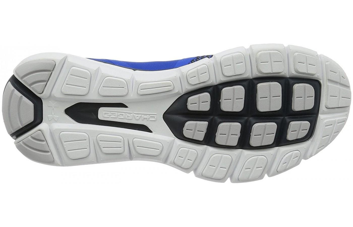 Padding is added to key parts of the outsole to add durability and traction
