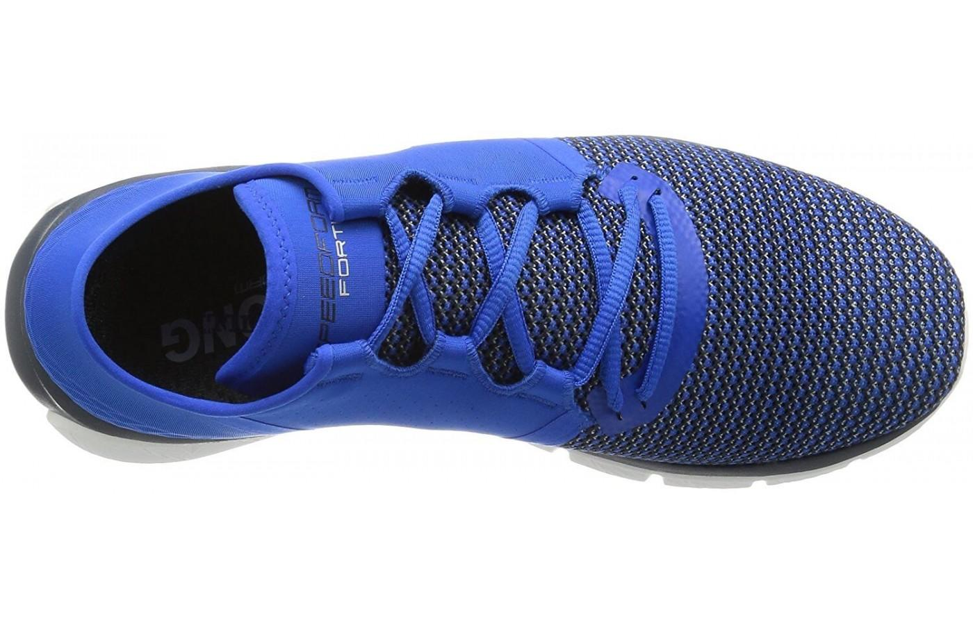 This shoe features an embedded sock liner for added comfort and odor control.