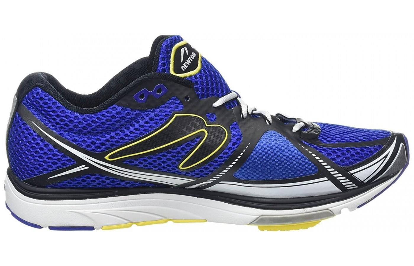 The shoe features a low, 4.5 millimeter drop.