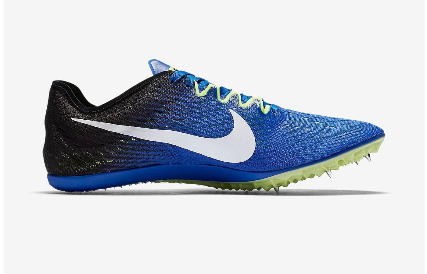 1a62272df569 The Zoom Victory 3 showcases Nike s trademark impeccable style. Six track  spikes are embedded in the forefoot and arch of this running shoe.