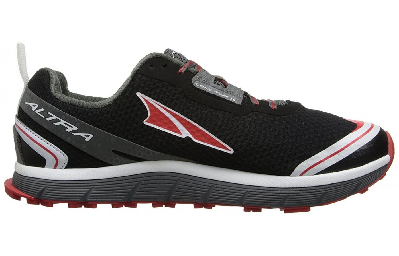The Altra Peak 2.0 features a zero drop