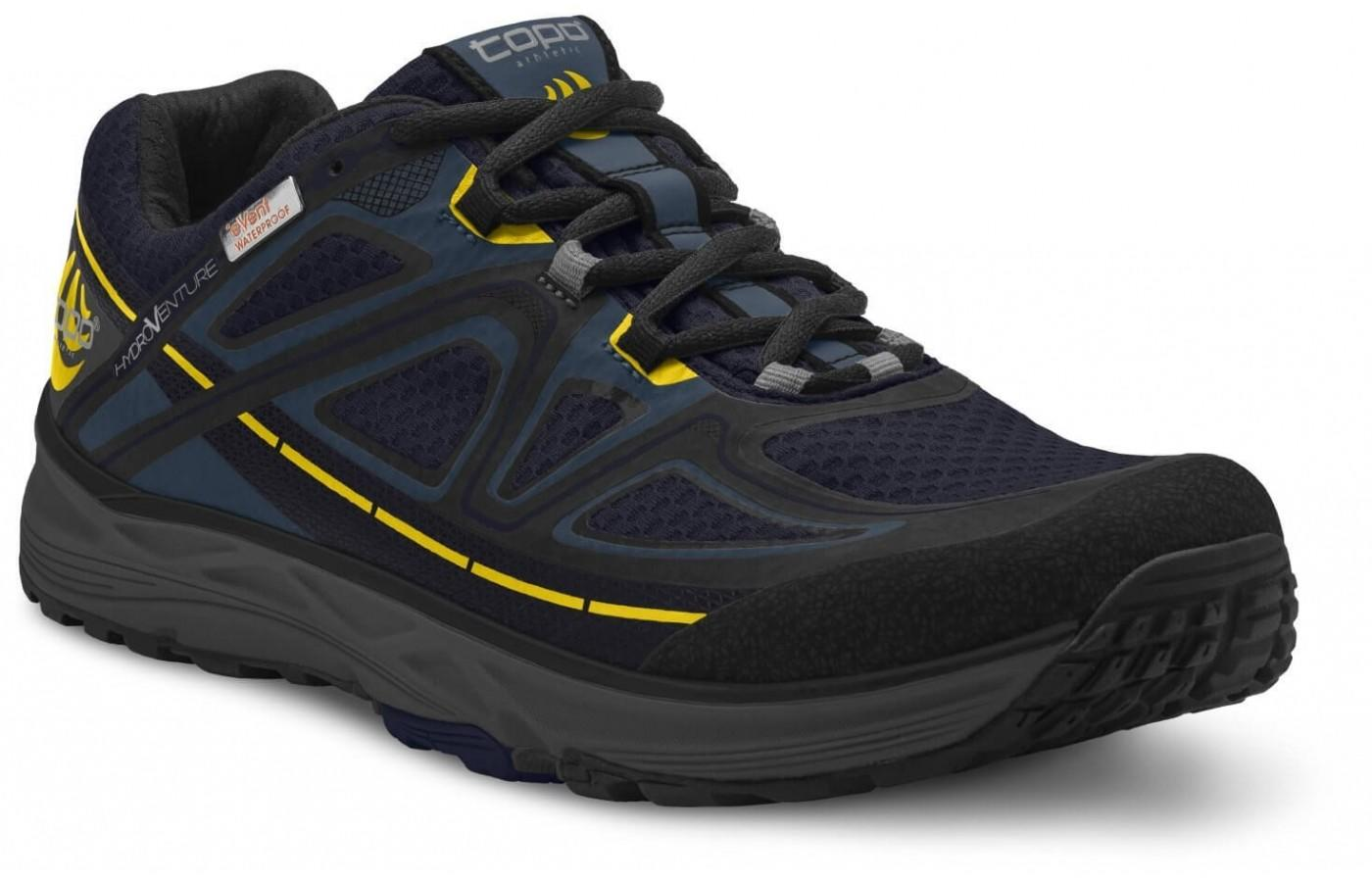 The upper features Topo's patented eVent Materiel.
