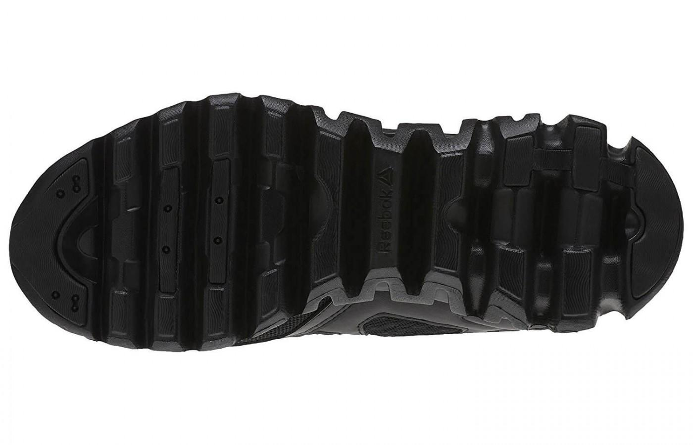 The outsold features a durable material with added traction