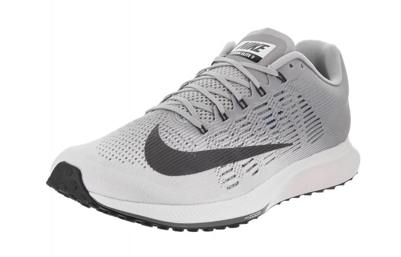 The Nike Air Zoom Elite 9 features a Flymesh technology upper.
