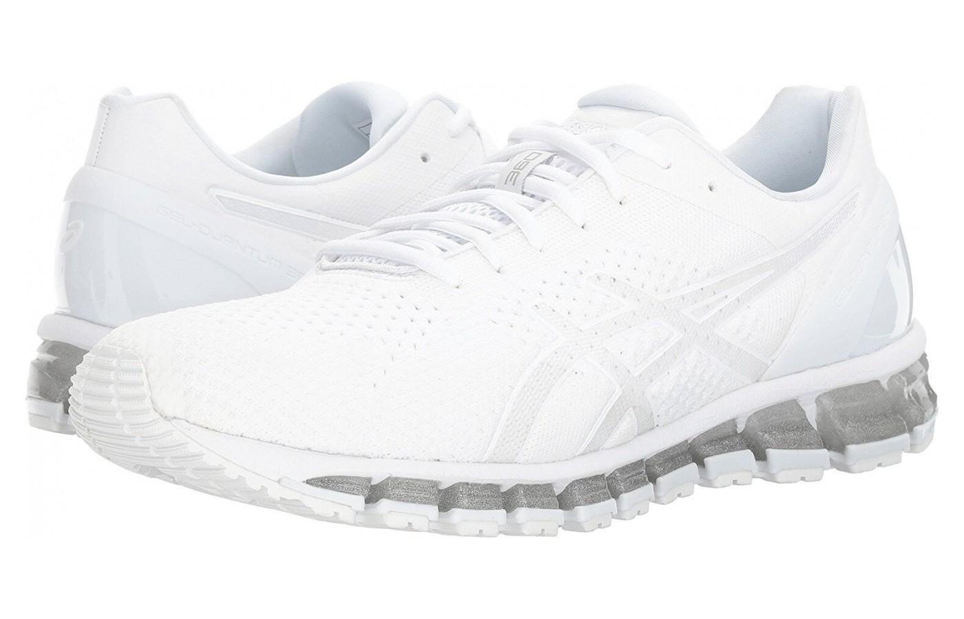 The Asics Gel Quantum 360 Knit has gel cushioning in both the rearfoot and forefoot