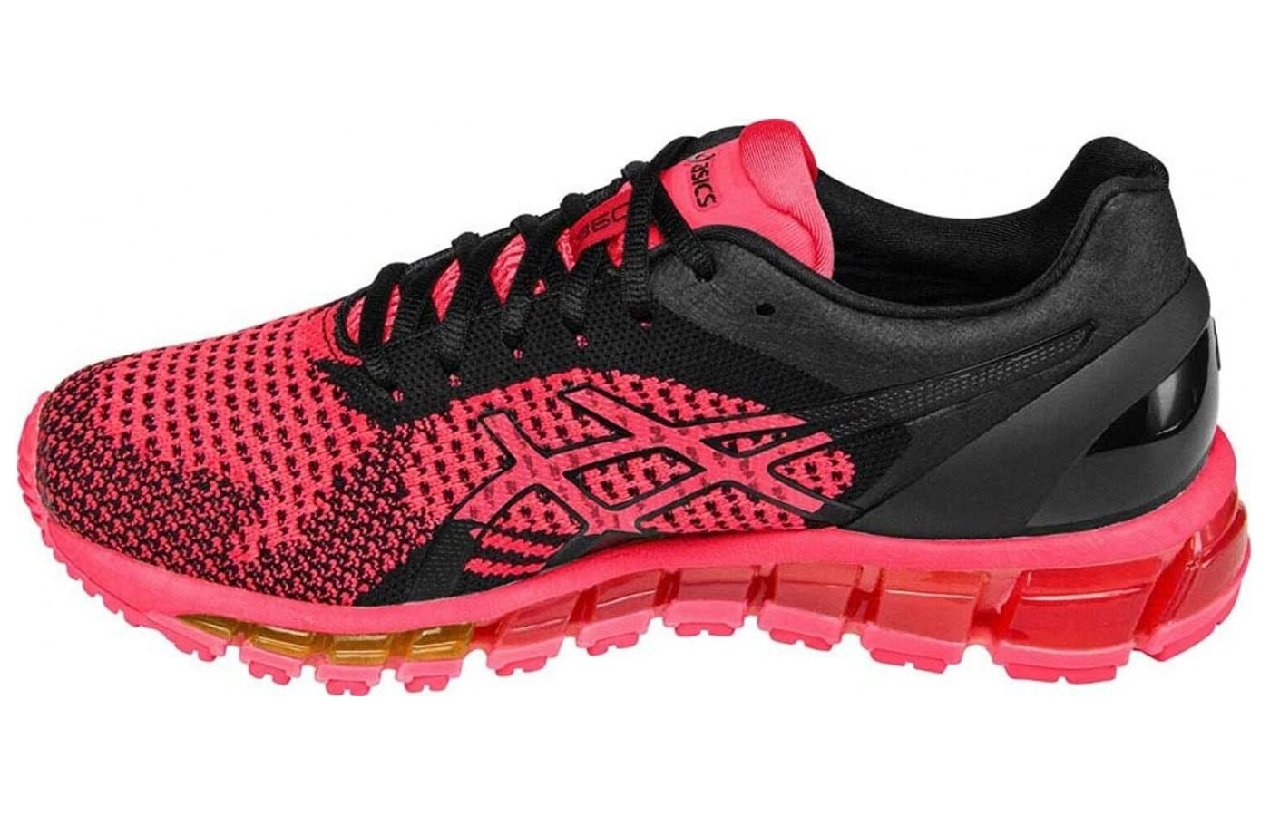 b07156115 The Asics Gel Quantum 360 Knit shown from the top side ...