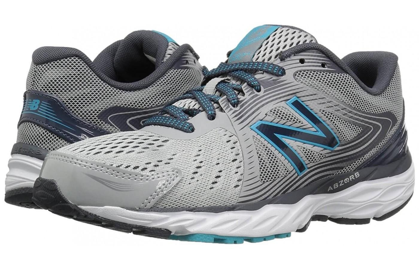The New Balance 680V4 features a 12mm drop