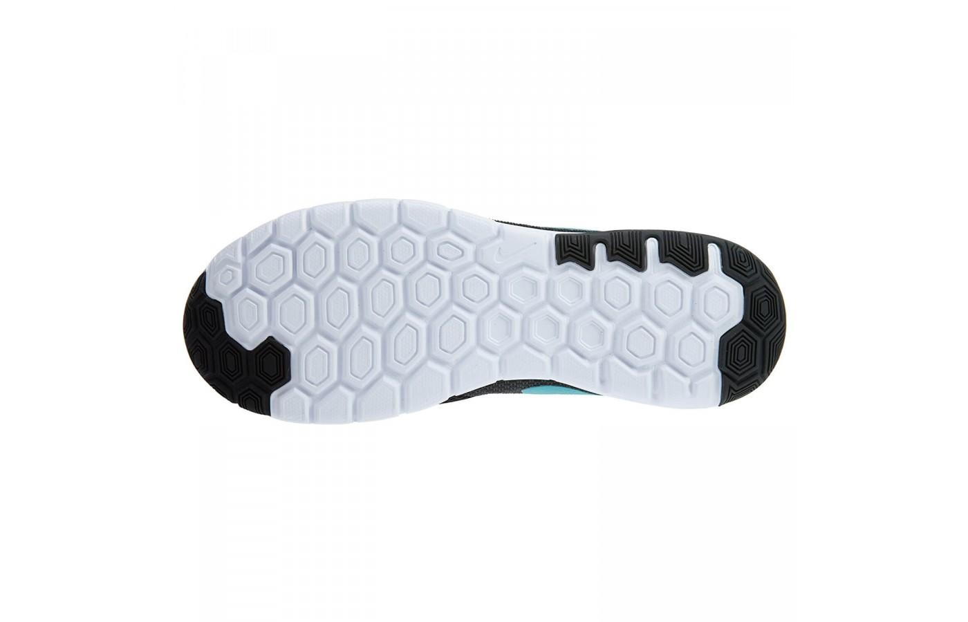 c69533bb019db ... The outsole of the Nike Flex Experience RN 6 is durable and the  hexagonal lugs provide ...