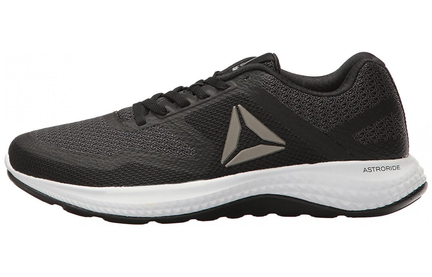 The Reebok Astroride 2D has the iconic Delta logo on the side