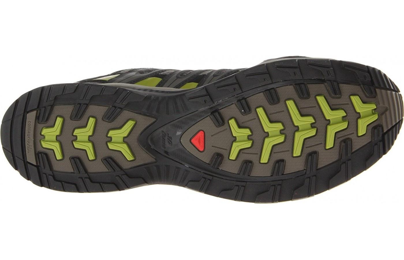 The outsole of the Salomon Xa Pro 3D M+ was designed to go on every type of terrain