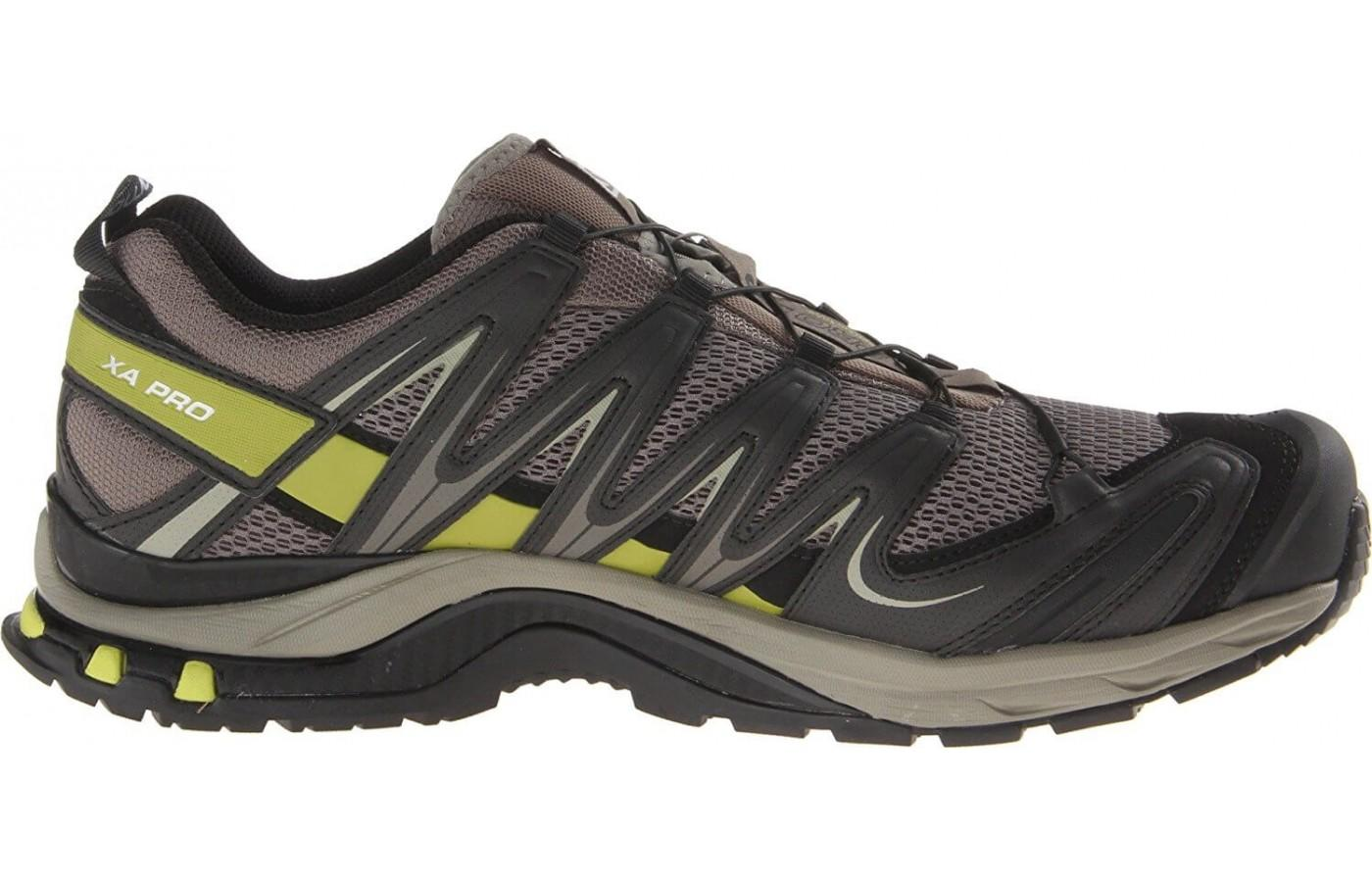 The Salomon Xa Pro 3D M+ has an outdoor adventure look
