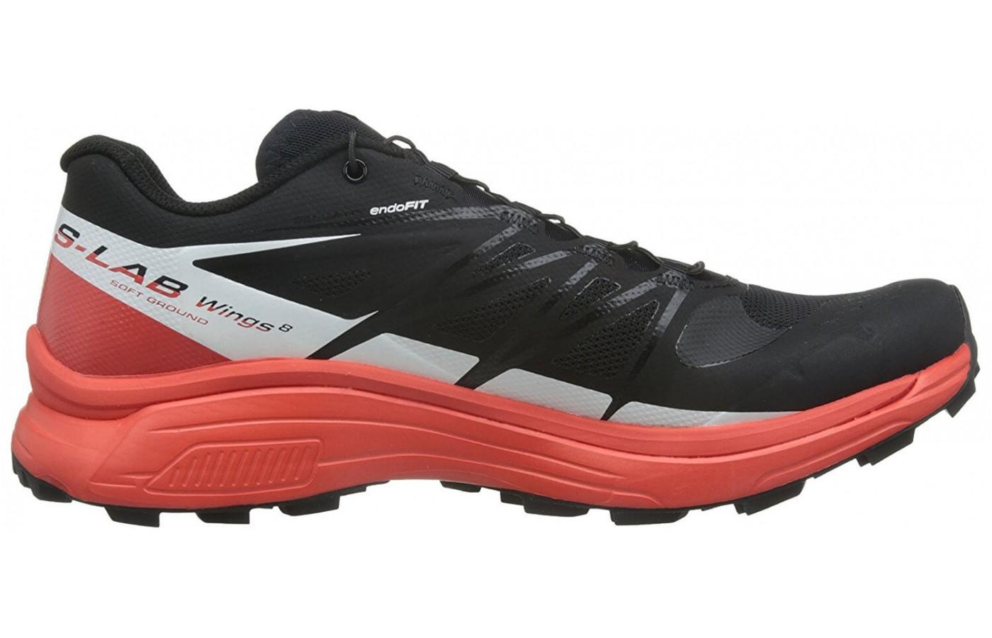 Salomon S-Lab Wings 8 SG features an EVA midsole