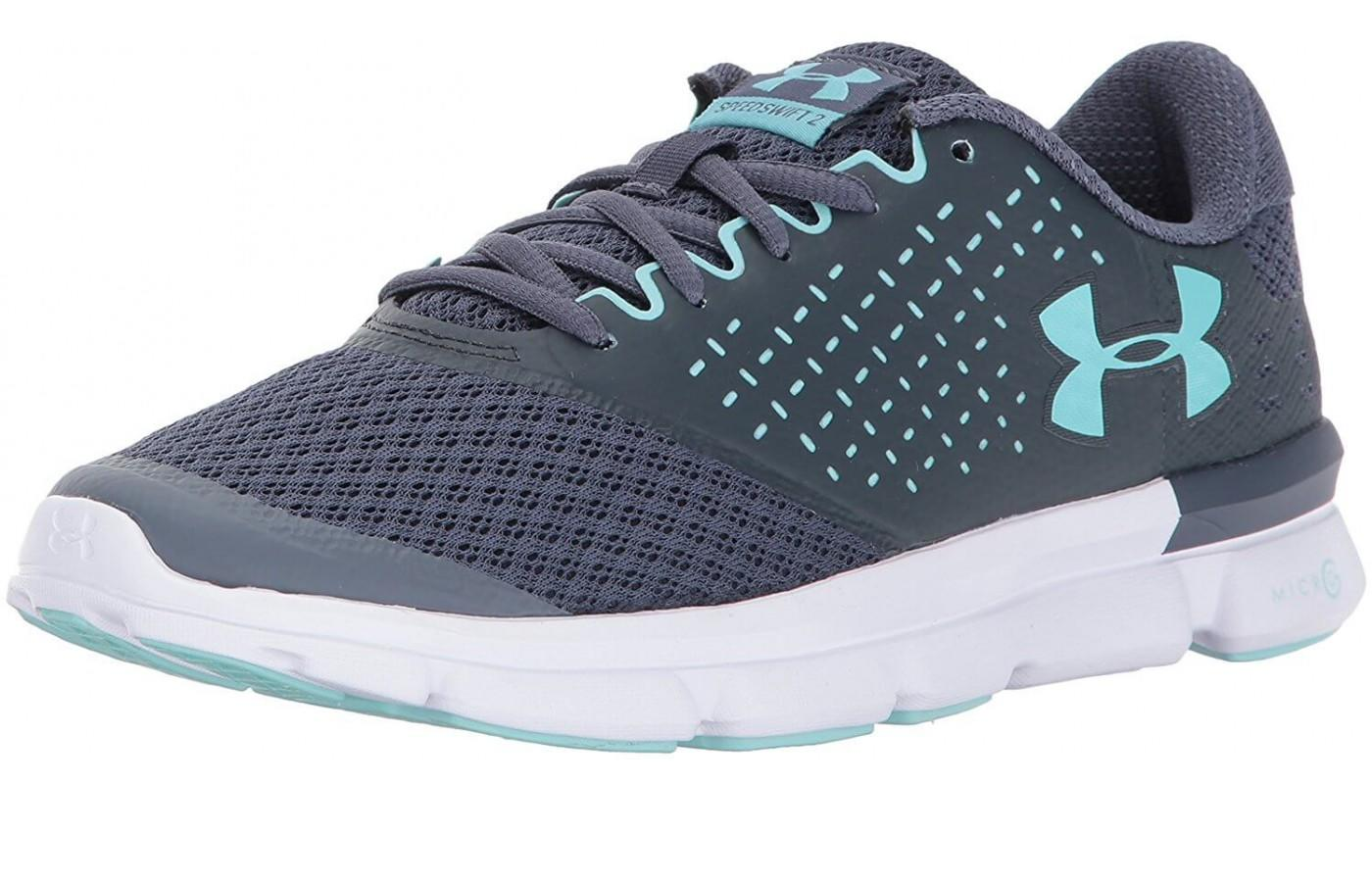 The Under Armour Speed Swift 2 features a breathable mesh upper