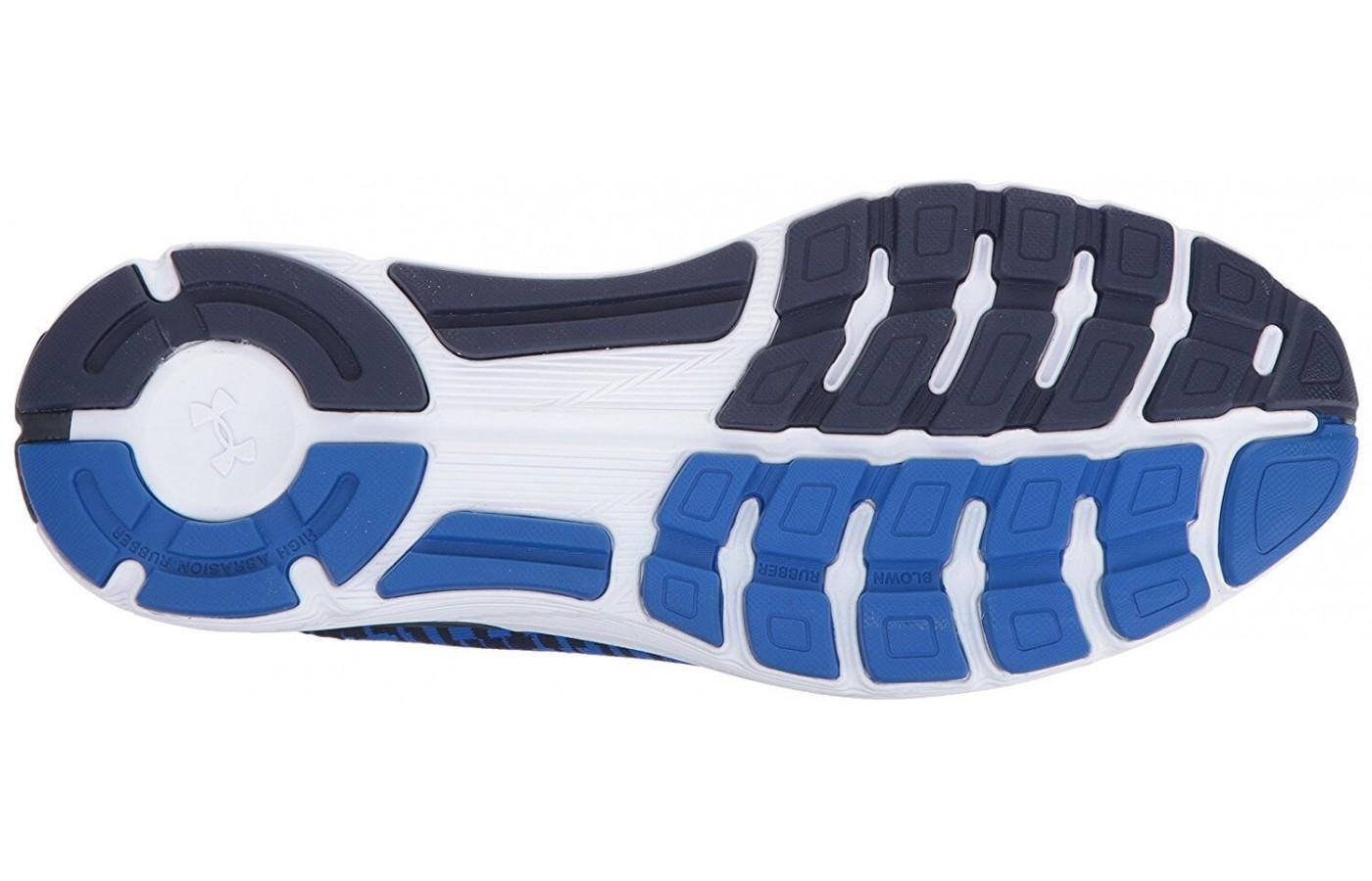 The outsole is made using a a variety of rubbers to provide added traction