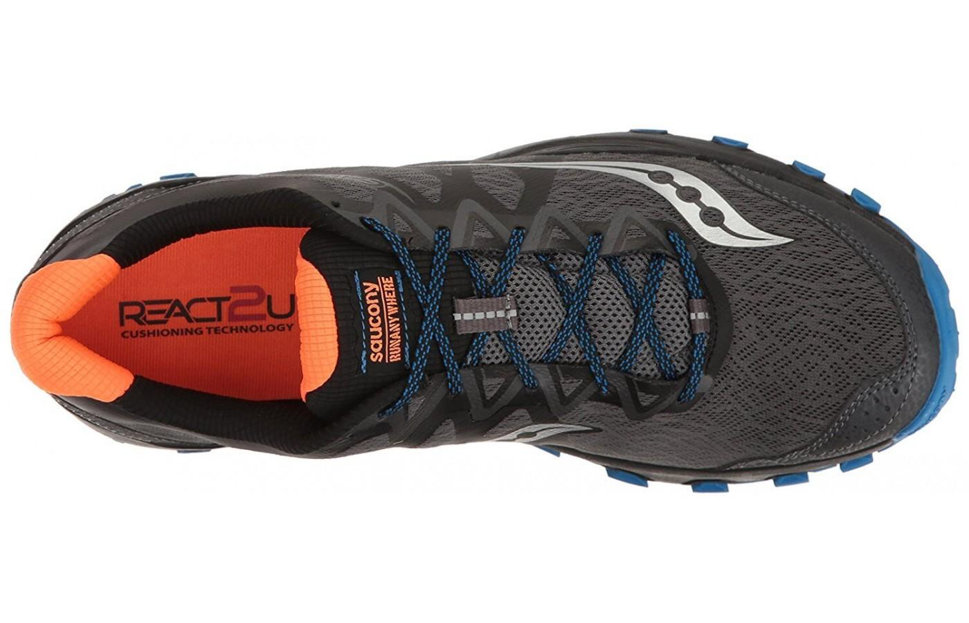 The upper provides a breathable, comfortable ride.