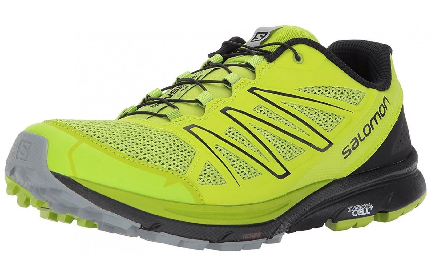 The upper of the Salomon Sense Marin is both breathable and protective