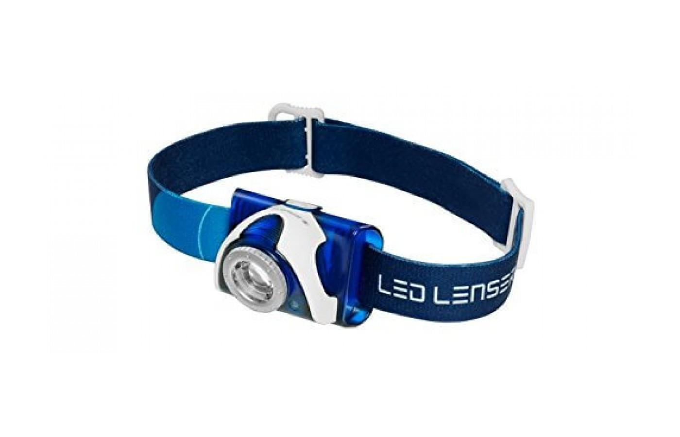 the LED Lenser SEO7R is a lightweight, dynamic headlamp that offers a variety of lighting options