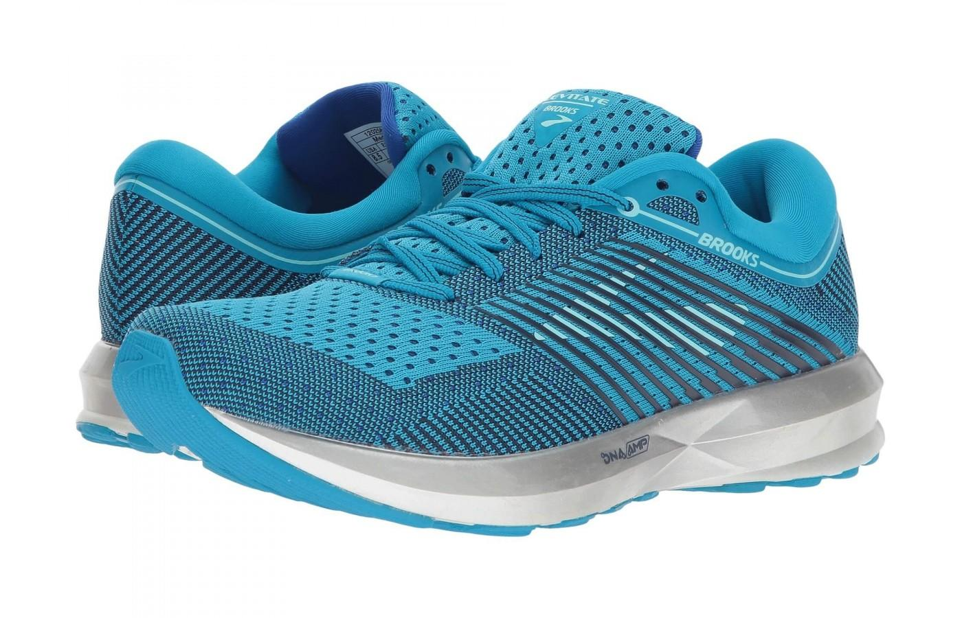 The Brooks Levitate is available in blue or white