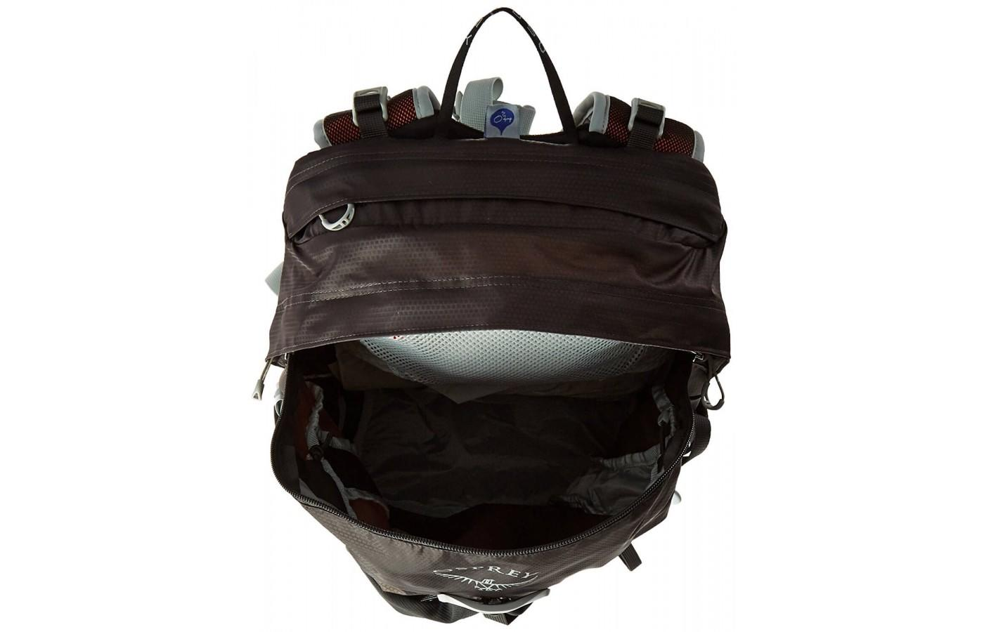 The Osprey Talon 22 has a separate hydration sleeve