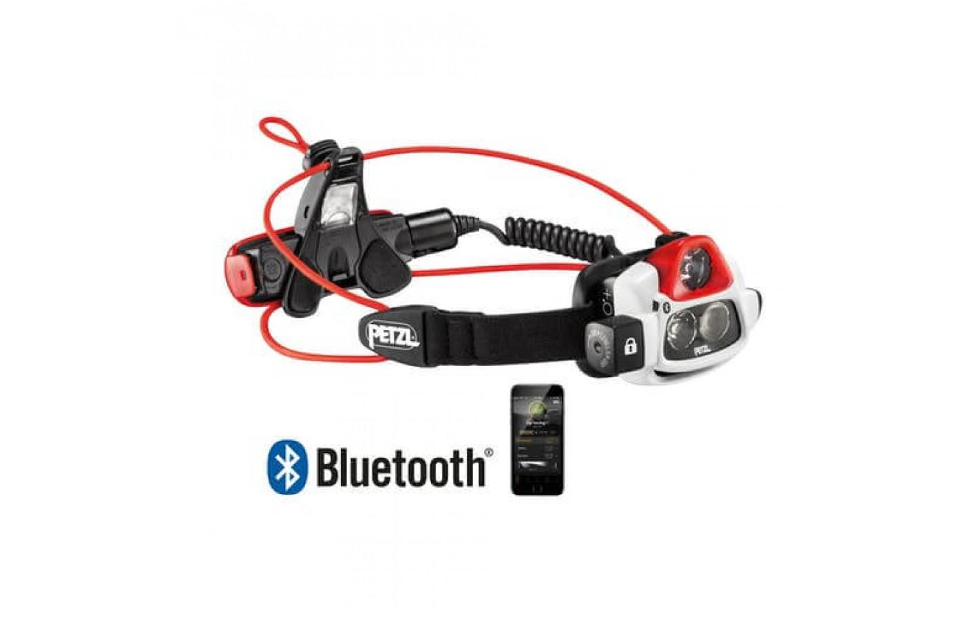 The Petzl NAO+ Headlamp is equipped with a rechargeable battery