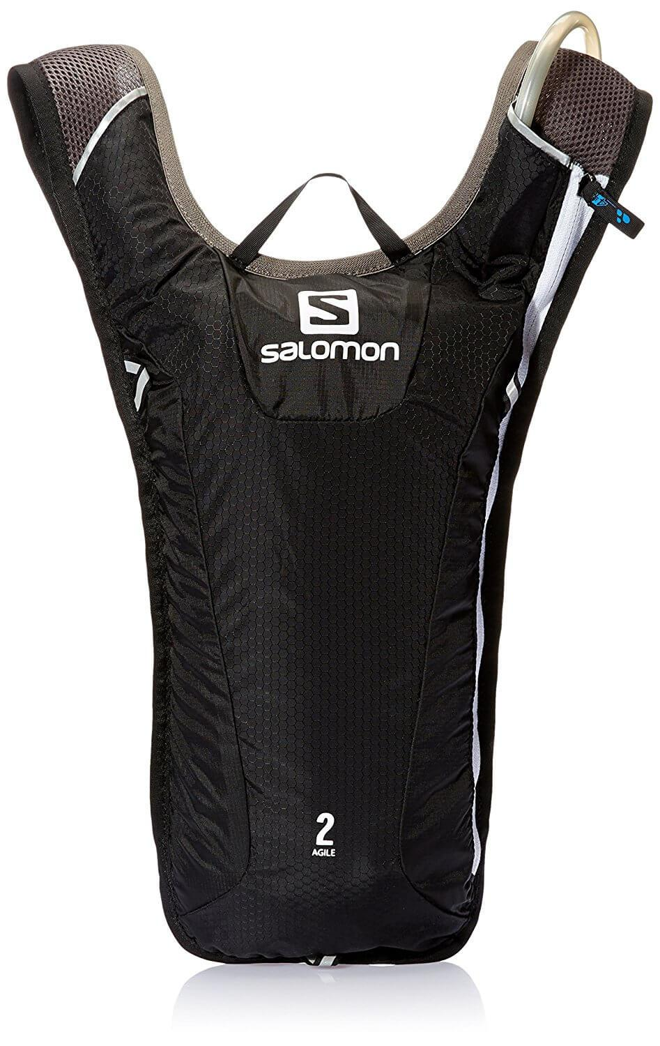 The Salomon Agile 2 Hydration Pack features one large compartment for storage