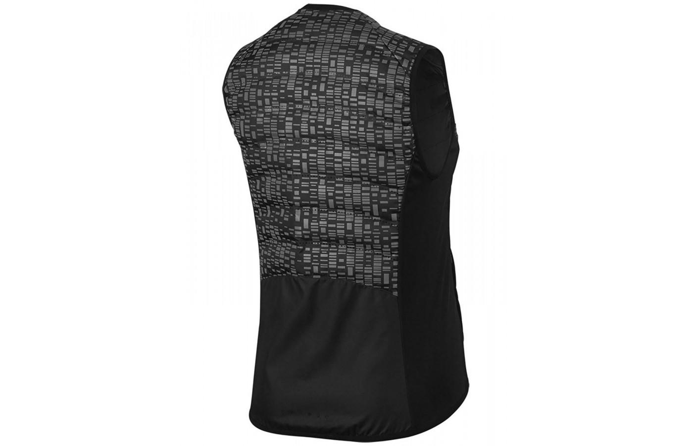 The Aeroloft Flash vest features warm insulated panels with Nike Flex fabric on the sides