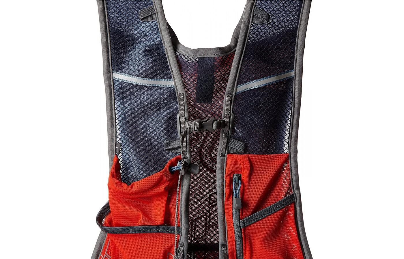 The vest comes in three sizes and has adjustable straps to create the perfect fit.