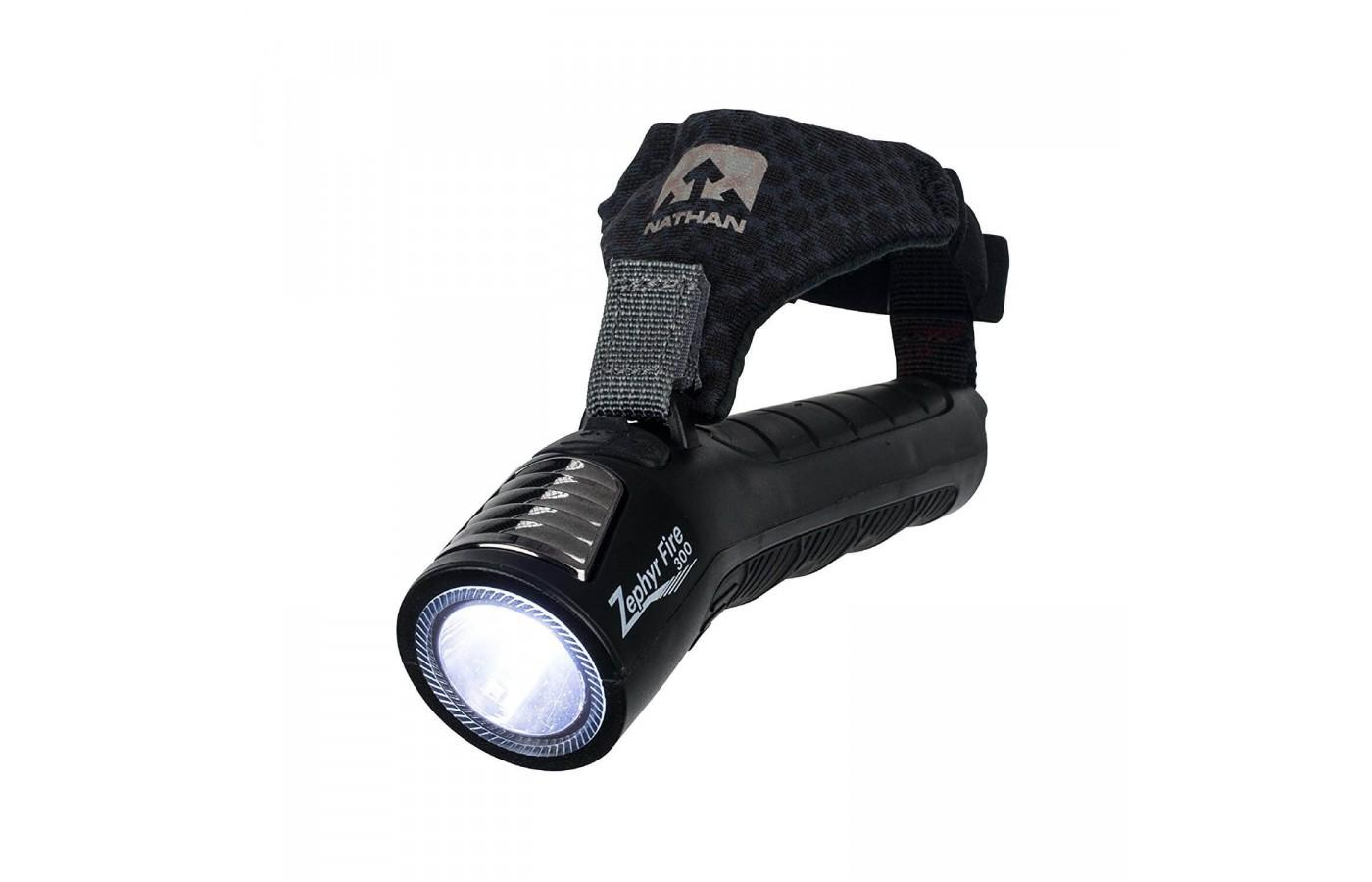 Nathan's Zephyr Fire 300 is the perfect alternative to a head lamp.