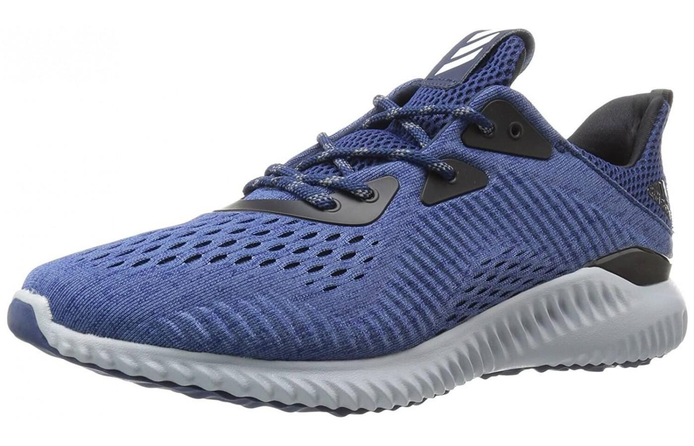 The Adidas Alphabounce EM features Bounce cushioning