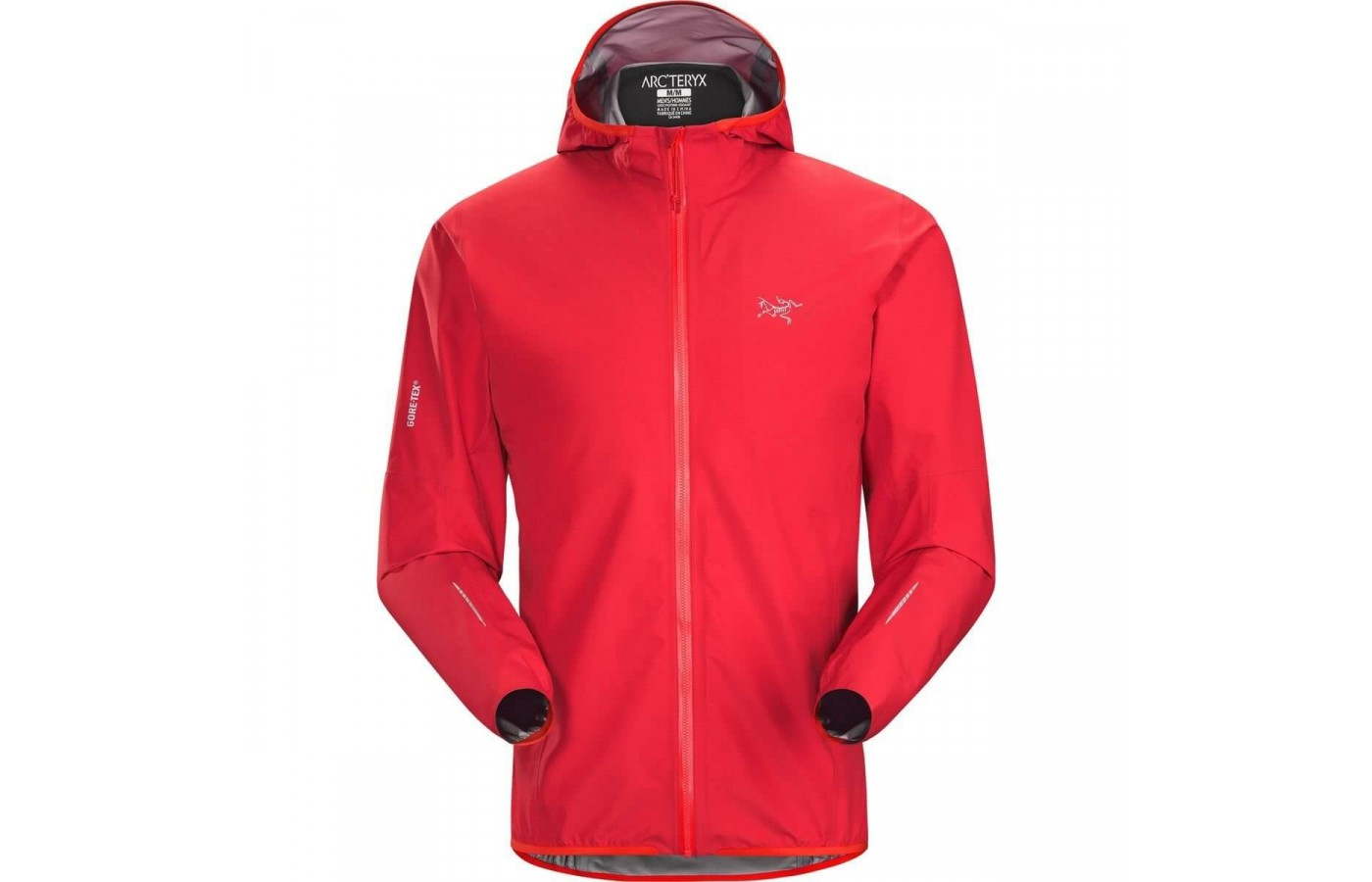 The Arc'teryx Norvan Jacket comes in Magma that is sure to turn heads