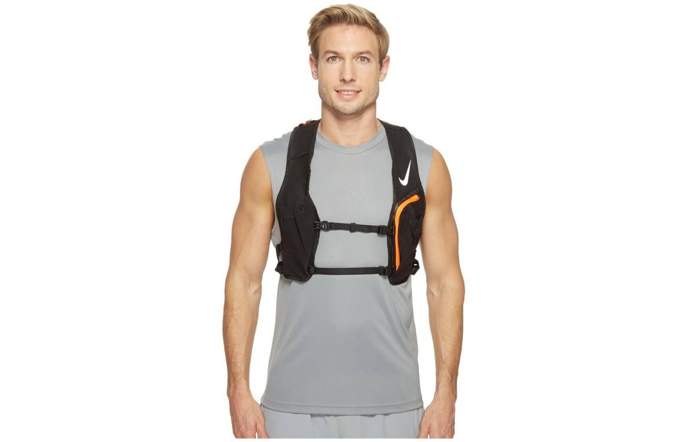 The Nike Hydration Race Vest can accommodate hydration bladders of up to 2L