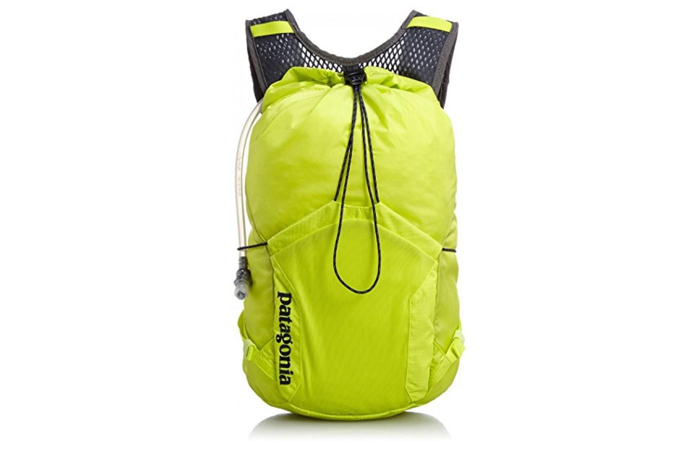 The Patagonia Fore Runner Vest 10L features a drawstring closure
