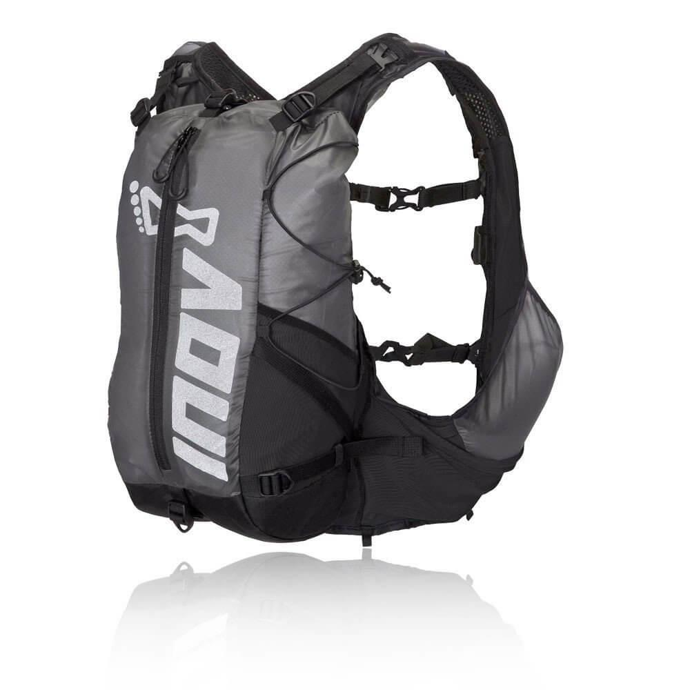 Inov8 All Terrain Pro Unisex Grey Black Outdoors Running Backpack Bag Vest Pack