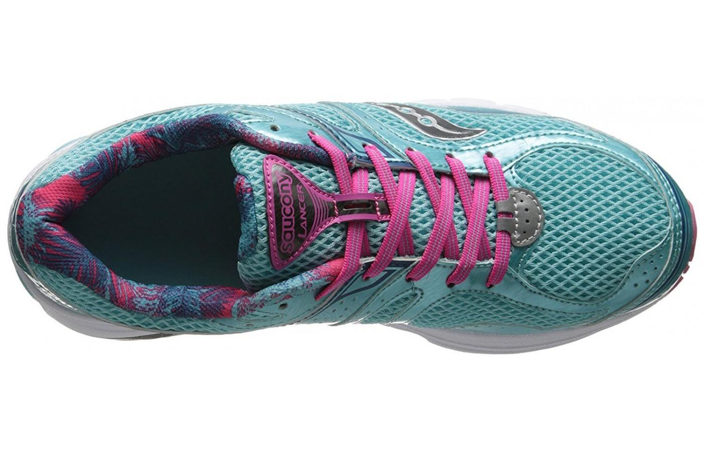 The upper provides runners with a great mix of breathability and support.