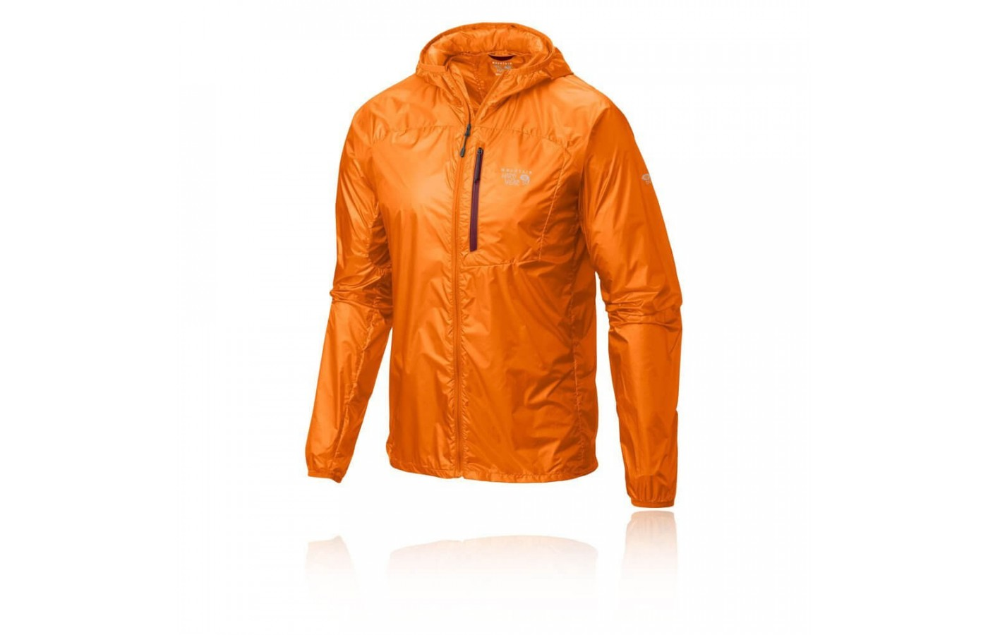 The Mountain Hardware Ghost Lite jacket is lightweight and easily compressed.
