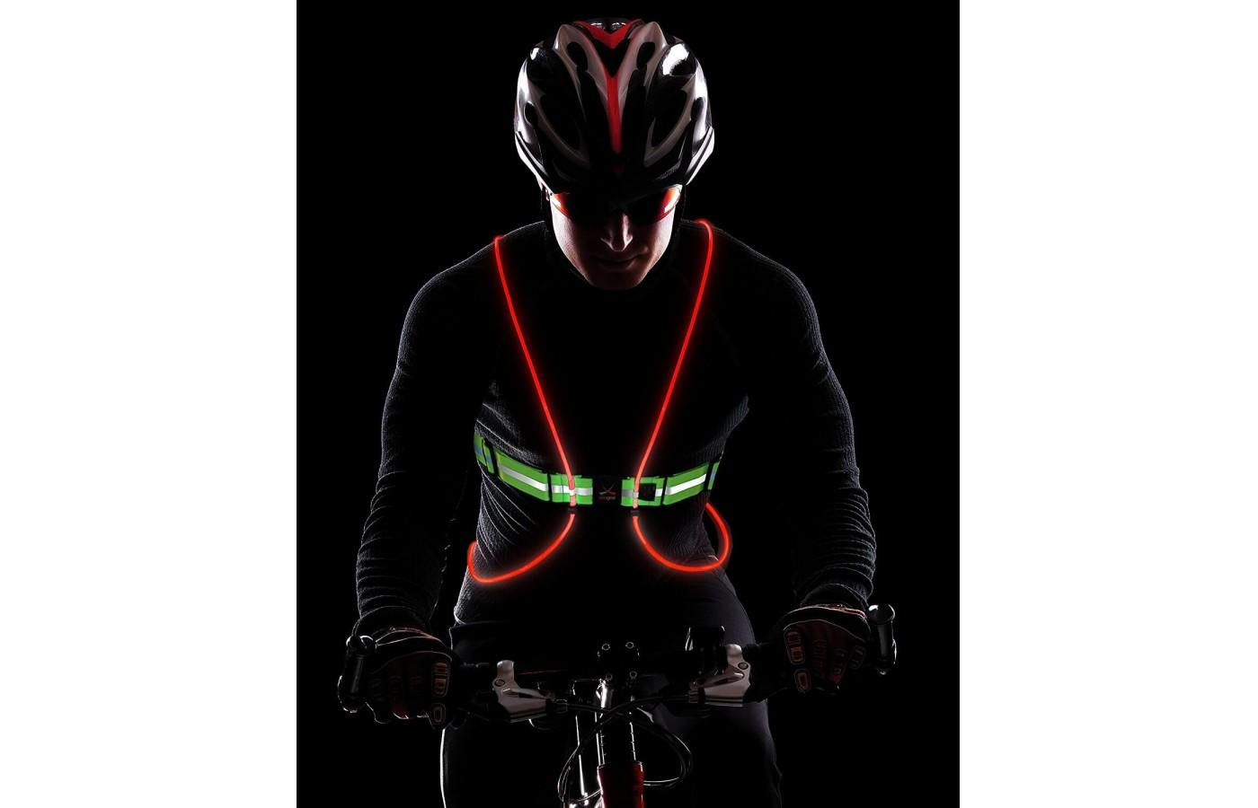 This is a product perfect for runners, hikers, bikers, and any athlete looking to stay safe in the dark.