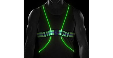 Noxgear Tracer360 is a great visibility vest to keep you safe running in the dark.